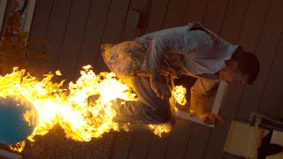 Download Fire-breathing Backflip with Steve-O - The Slow Mo Guys Video