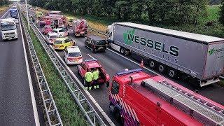 Download Grote inzet Brandweer, Politie en Ambulances bij zwaar ongeval op de A58 bij Oirschot - 23-06-2017 Video