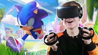 Download BECOME SONIC THE HEDGEHOG IN VIRTUAL REALITY! | Sonic VR (Oculus Touch Gameplay) Video
