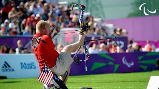 Download Archery - Stutzman (USA) v Denton (USA) - Men's Ind. Compound Open - London 2012 Paralympics Video