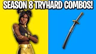 Download 6 SEASON 8 TRYHARD SKIN COMBOS! Fortnite Season 8 SKIN COMBOS! (Tryhard Skin Combos Season 8) Video