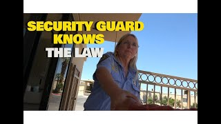 Download SECURITY GUARD KNOWS THE LAW!! 1ST AMENDMENT AUDIT Video