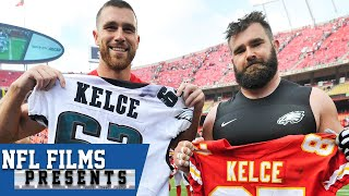 Download Jason and Travis Kelce: Close Brothers Who are Both Different and Alike | NFL Films Presents Video