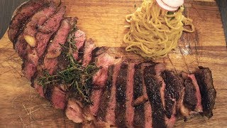Download GIANT STEAK & Garlic Noodles in Southern California Video