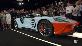 Download 2019 Ford GT Heritage Edition (Vin 001) sells for $2.5 MILLION at Barrett-Jackson Scottsdale! Video