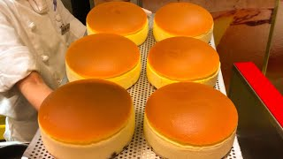 Download japanese street food - uncle rikuro's fluffiest CHEESECAKE osaka japan 焼きたてチーズケーキ Video