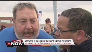 Download Workers rally against Rexnord to move to Mexico Video