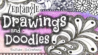 Download The Art Of ZENTANGLE #3 - My Drawings & Doodles! // SoCraftastic Video