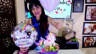 Download Centro de mesa Unicornio primera comunión y cumpleaños / Manualidades de Vero Video