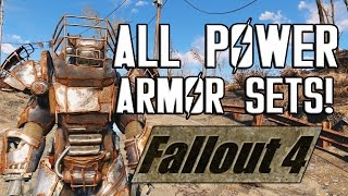 Download FALLOUT 4 - ALL POWER ARMOR SETS! Video