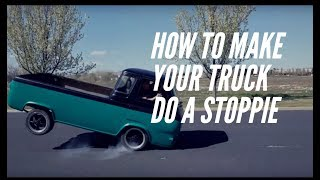 Download Can a truck do a stoppie? Yes! - 1962 Econoline Pickup on 2 wheels Video