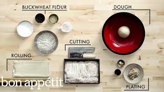 Download How to Make Handmade Soba Noodles | Handcrafted | Bon Appétit Video