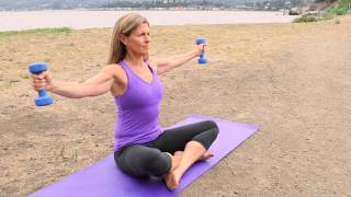 Download Exercises to Lose Your Arms & Stomach While Sitting Down : Pilates & Core Exercises Video