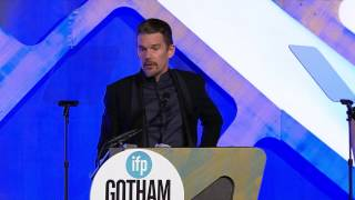 Download Ethan Hawke accepting a Gotham Tribute at the 2016 IFP Gotham Awards Video