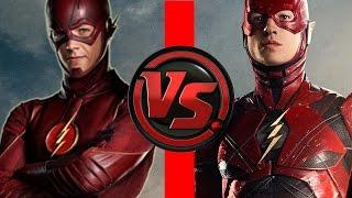 Download Flash VS Flash   Ezra Miller Flash vs Grant Gustin Flash   Who is FASTER?! Video