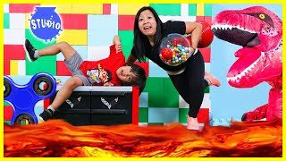 Download The Floor is Lava with Ryan ToysReview and Giant T-Rex + Fidget Spinners, Bottle Flip, Mannequin! Video