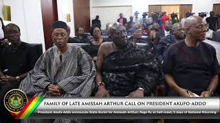 Download Family of Late Amissah Arthur Calls on President Akufo-Addo Video