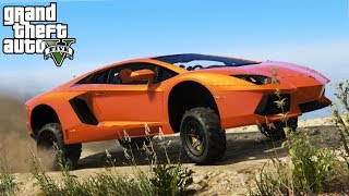 Download LIFTING A LAMBORGHINI AVENTADOR! 4x4 Off-Roading, Lift Kit Install, & Mudding! (GTA 5 PC Mods) Video