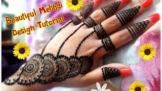 Download How to apply new latest henna mehndi designs for hands for eid,diwali,weddings tutorial 2017 Video