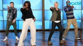 Download Michelle Obama Dances With Ellen DeGeneres to ″Uptown Funk″ Video