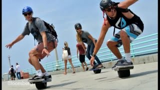 Download Part Hoverboard, Part Skateboard Catches Air at CES Video