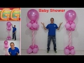 Download decoración para baby shower niña - ideas para baby shower - columnas de globos - baby shower Video