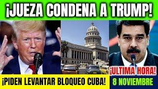 Download ULTIMAS NOTICIAS Jueza condena a Trump, ONU insiste fin embargo Cuba Noticias hoy 8 noviembre Video