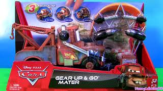 Download Cars 2 Gear Up and Go Lightning McQueen With Mater Buildable FunToys Review Disney Pixar Video