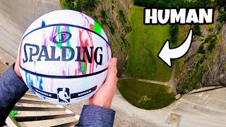 Download CATCHING BASKETBALLS at TERMINAL VELOCITY from 165m Dam! Video