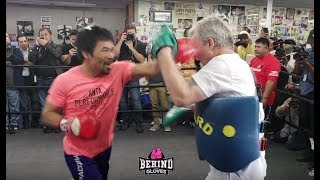 Download SCARY! HEAR MANNY PACQUIAO'S POWER SHOTS UP CLOSE! Video