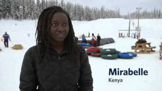 Download International Students try Skiing and Snowboarding Video