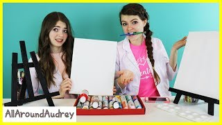 Download Audrey and Jordan Paint Portraits of Each Other! / AllAroundAudrey Video