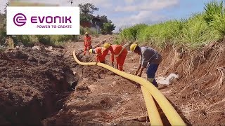 Download Installation of a high pressure gas pipe made from Polyamide 12 VESTAMID® NRG | Evonik Video