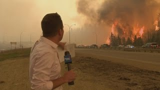 Download Caught on camera: Fort McMurray fire erupts behind Global News reporter Video