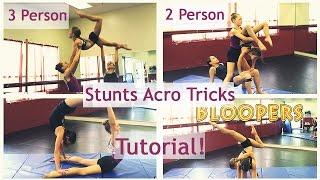 Download Best 3 Person 2 Person Stunts Acro Tricks Tutorial!!!!!! Video