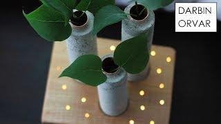 Download Concrete Vases w/ LED Fairy Lights Video
