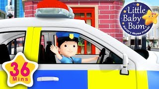Download Police song | Plus Lots More Nursery Rhymes | 36 Minutes Compilation from LittleBabyBum! Video