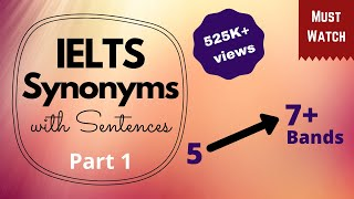 Download Synonyms (Part 1) to Score 7 Bands and Above in IELTS   IELTS Vocabulary   IELTS Tips   MnN Channel Video
