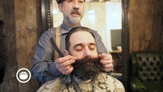 Download NY Beard Getting a Trim | Cut and Grind Video