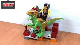 Download Lego Minecraft thợ săn khủng long bộ 2 Dinosaur Hunter toy for kids Video