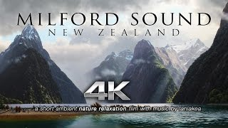 Download MILFORD SOUND in 4K UHD New Zealand's Wonder | Nature Relaxation™ Short Ambient Film Video