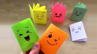 Download DIY Mini-Notizbuch basteln mit Papier: Heftchen für Schule & Geschenk. Origami Bastelideen falten Video