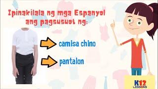 Download AP5 Unit 3 Aralin 12 - Pananamit, Palamuti at Pagpapangalan Video