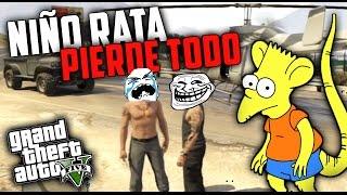 Download GTA V SUPER TROLL - NIÑO PIERDE SU DINERO , SU GARAJES Y SU MADRE LE CASTIGA Video
