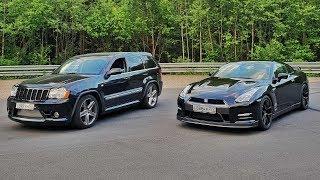 Download 1000HP Jeep SRT8 VS 920HP Nissan GT-R. Московская Миля Video