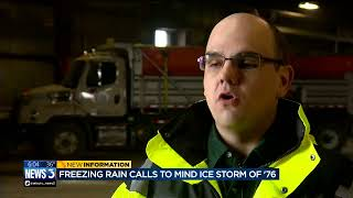 Download Freezing rain calls to mind ice storm of '76 Video