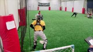 Download A 15 year old Catcher's Pop time clocked in at 1.98 and 2.01 Video
