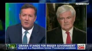 Download Liberal idiot Piers Morgan gets ass raped by Newt Gingrich Video
