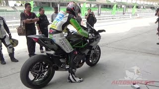 Download Kawasaki Ninja H2R test ride scenes Video