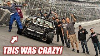 Download LEROY vs. TERRIFYING Daytona BANK TURNS! (seriously insane) Video